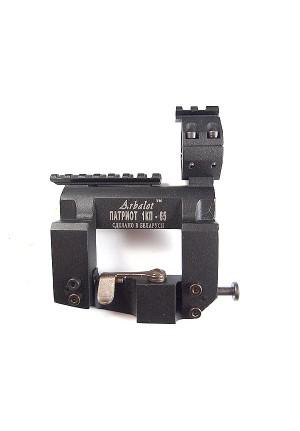 Боковой кронштейн Патриот КP65 с планкой Picatinny и мультикольцом